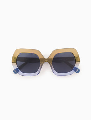 Geometric colour-block sunglasses