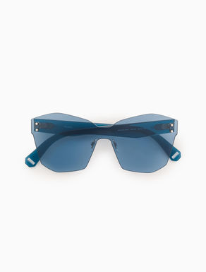 Geometric mask-frame sunglasses
