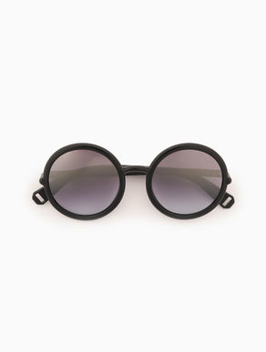 Round smoked sunglasses