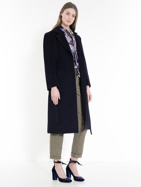 Wool drap midi coat