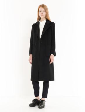 Wool drap midi coat