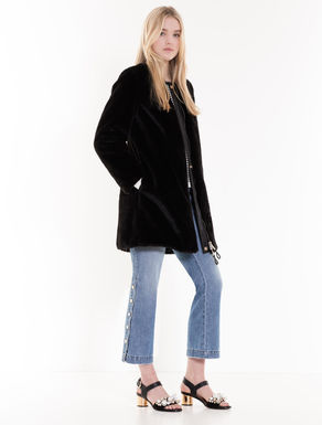 Reversible plush coat