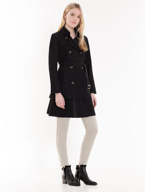 Trench coat in technical taffeta
