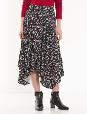 サブレ生地のスカーフスカート