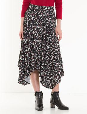Scarf skirt in sablé fabric