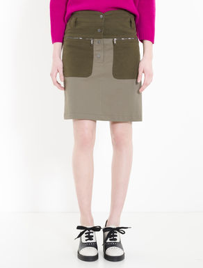 Moleskin and cavalry twill skirt