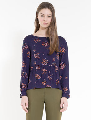 Sablé blouse with flounce