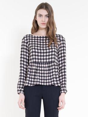 Sablé blouse with flounce