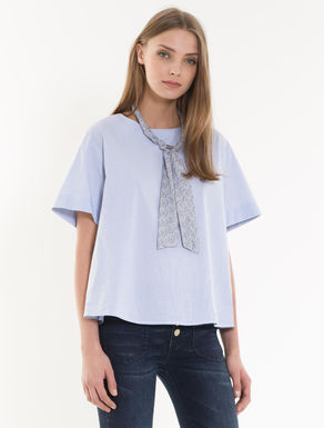 Blusa A-line in popeline stretch