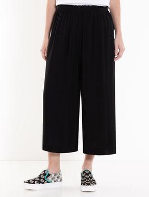 Culotte pants in tessuto crêpe