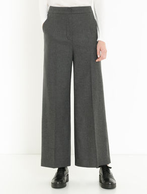 Wide-fit flannel trousers