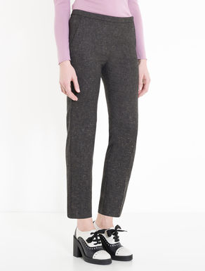 Slim-fit trousers in tweed flannel