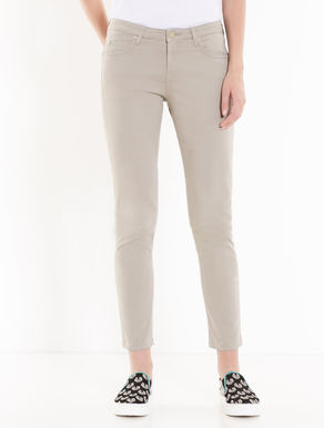 Skinny cotton trousers
