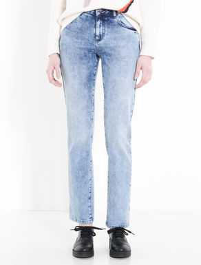 Vintage-look slim fit jeans