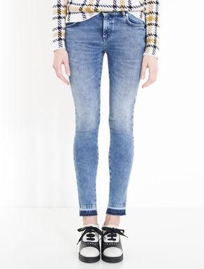 Vintage-look skinny-fit jeans
