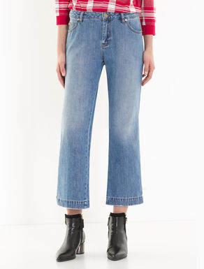 Kick-flare jeans with buttons