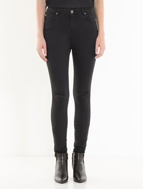 Black extra-skinny-fit jeans