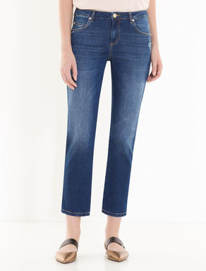 Straight-fit vintage-look jeans