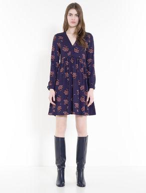 Printed sablé dress