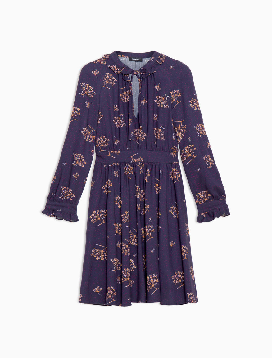ruched sable dress midnight blue pattern diploma max co  diploma