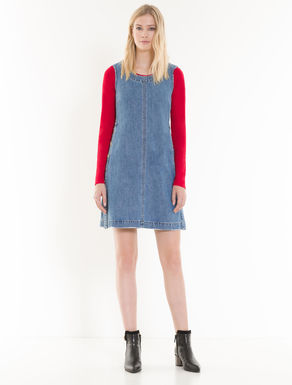Denim dress with buttons