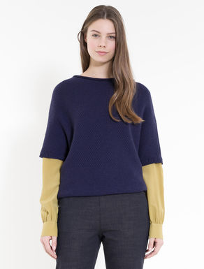 Honeycomb batwing sweater