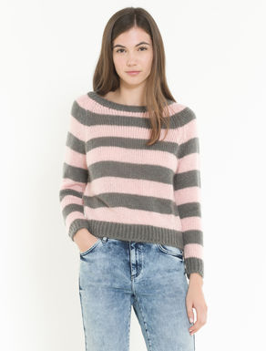 Fluffy mohair blend sweater
