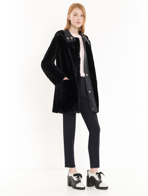 Manteau réversible en shearling
