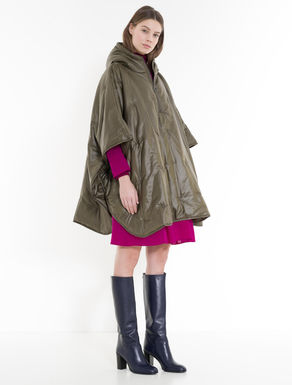 Padded poncho with hood