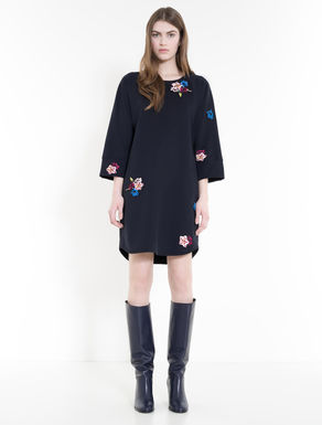 Fleece dress with embroidery