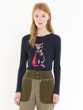 T-shirt en coton décoré