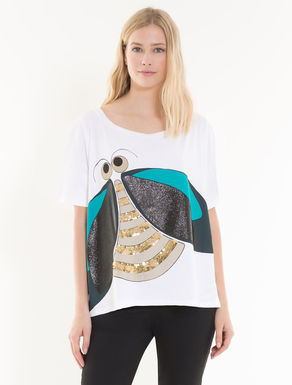 Oversize T-shirt with jewellery print