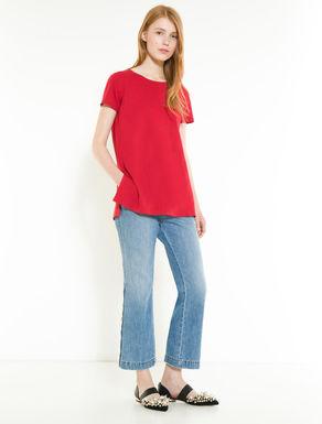 Cotton jersey tunic T-shirt