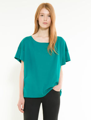 Oversize cotton jersey T-shirt
