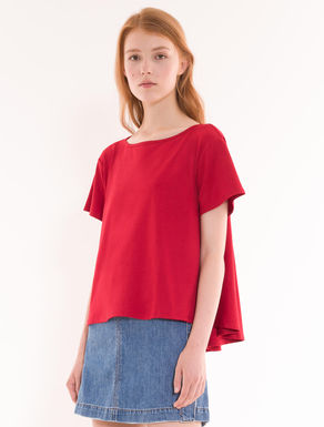 Cotton jersey A-line T-shirt