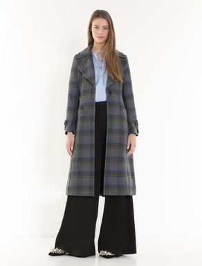 Checked riding coat