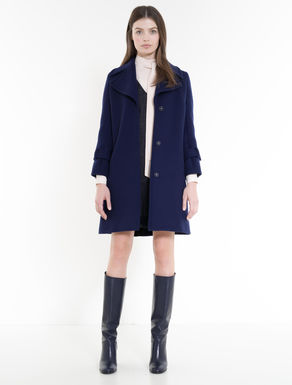Brushed double wool coat