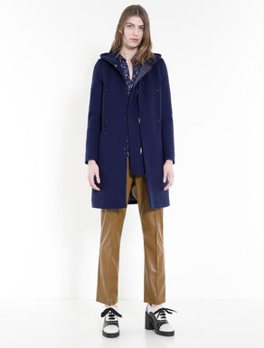 Brushed double wool duffle coat