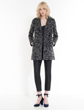 Dappled wool/mohair coat