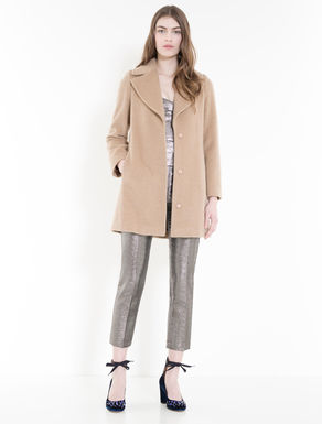 Manteau en castorine laine et mohair