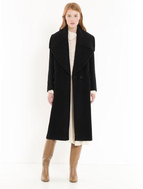 Beaver coat with oversize lapels