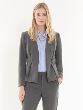 Slim-fit blazer with toggles