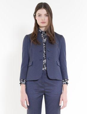 Slim floral jacquard blazer