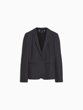 Slim-fit floaty blazer