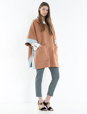 Reversible two-tone cape