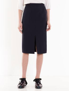 Crêpe pencil skirt