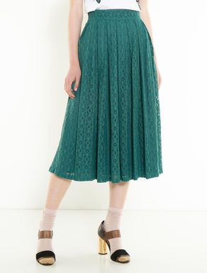 Geometric macramé skirt