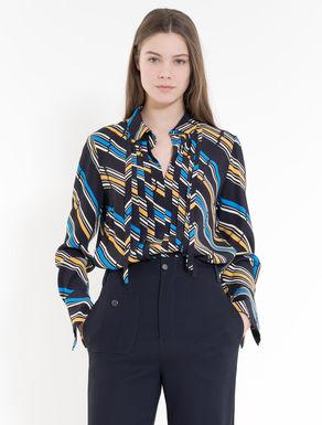 Bluse aus bedrucktem Crêpe