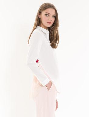 Camicia con plissé color block