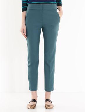 Pantaloni slim in tessuto crêpe